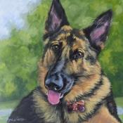 Diesel the German Shepherd custom pet portrait painting by Hope Lane