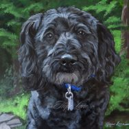 Finished Painting of Kole, the Schnoodle