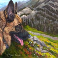 Finished Painting of Tucker the German Shepherd