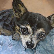 Chihuahua Painting Moving Along