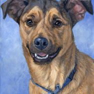 Finished Portrait of Walter, a Rescue