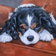 Finished Painting of a Cavalier