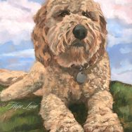 Waldo the Goldendoodle, Underpainting