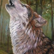Howling Wolf, the Finished Painting