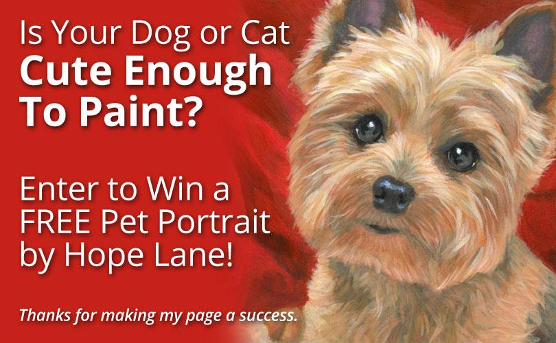Enter a Pet Portrait Contest on my Facebook Page