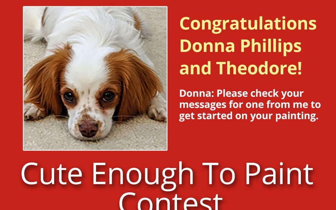 The Winner of a Free Pet Portrait
