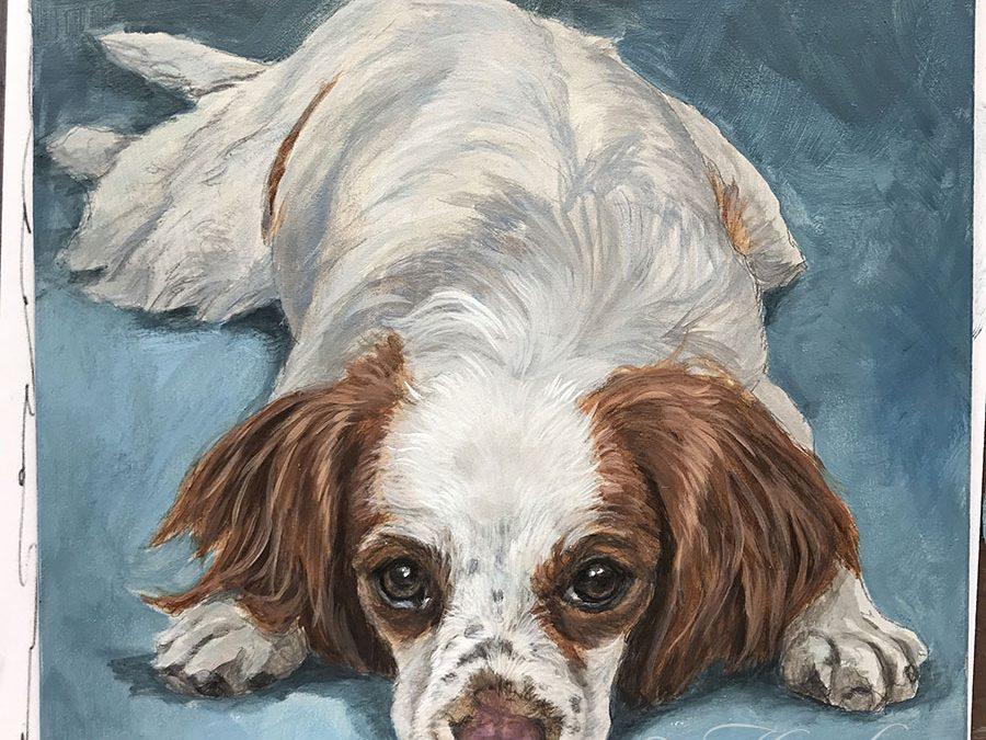 A Portrait of a Cavalier, In Progress