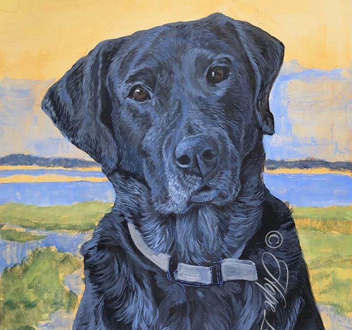 Painting a Black Lab, Underpainting