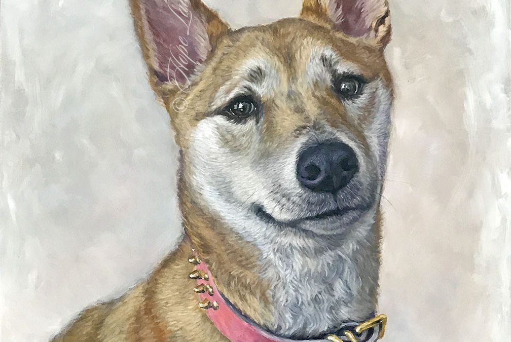 Finished Painting of a Shiba Inu